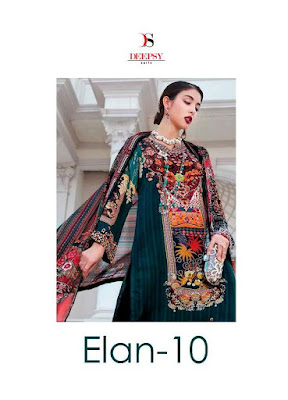 Deepsy Elan 10 Satin Silk Pakistani Suits Collection in Wholesale Rate