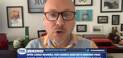"""Flávio Gomes minimiza transmissão do Flamengo: """"Nada de novo"""""""