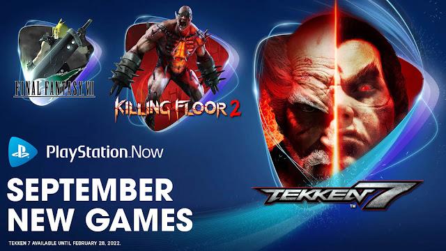 playstation now final fantasy 7 killing floor 2 pathfinder kingmaker definitive edition moonlighter tekken 7 windbound pc ps4 ps5 lineup september 2021 sony interactive entertainment