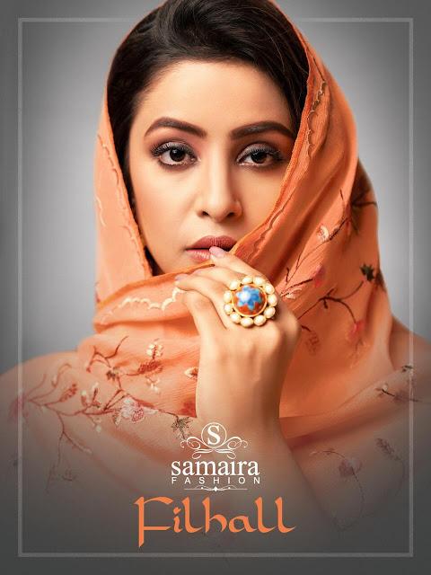 Samaira Fashion Filhall Masline Silk Salwar Kameez Collection Buy In Wholesale Price