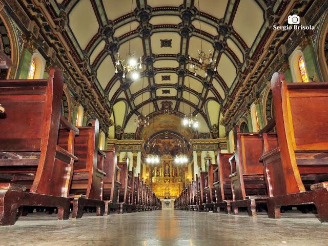 Vista artística do interior da Paróquia Nossa Senhora da Saúde - Vila Mariana - São Paulo