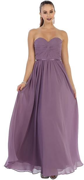 Best Quality Strapless Chiffon Bridesmaid Dresses