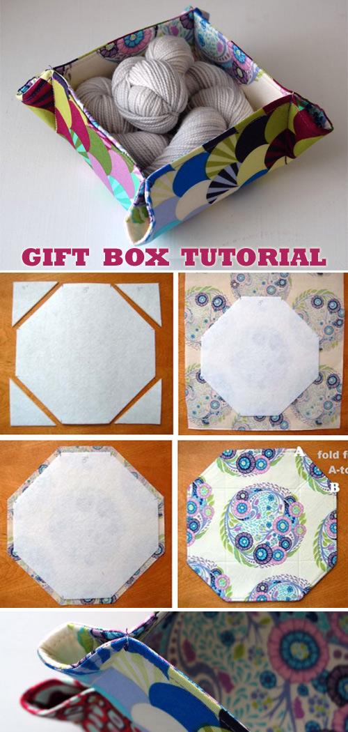 Gift Box Basket Tutorial
