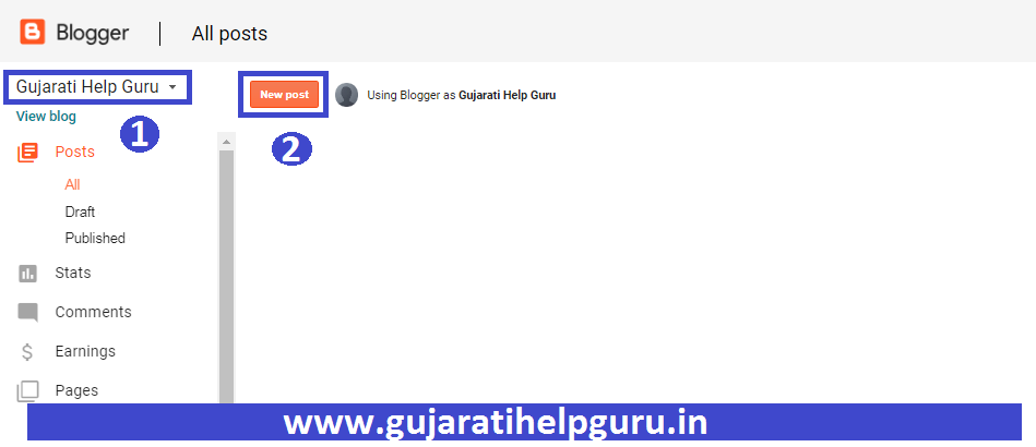 Blogger Blog Pe New Post Kaise Publish Kare 2020 How to Create a New Post in Blogger? 1