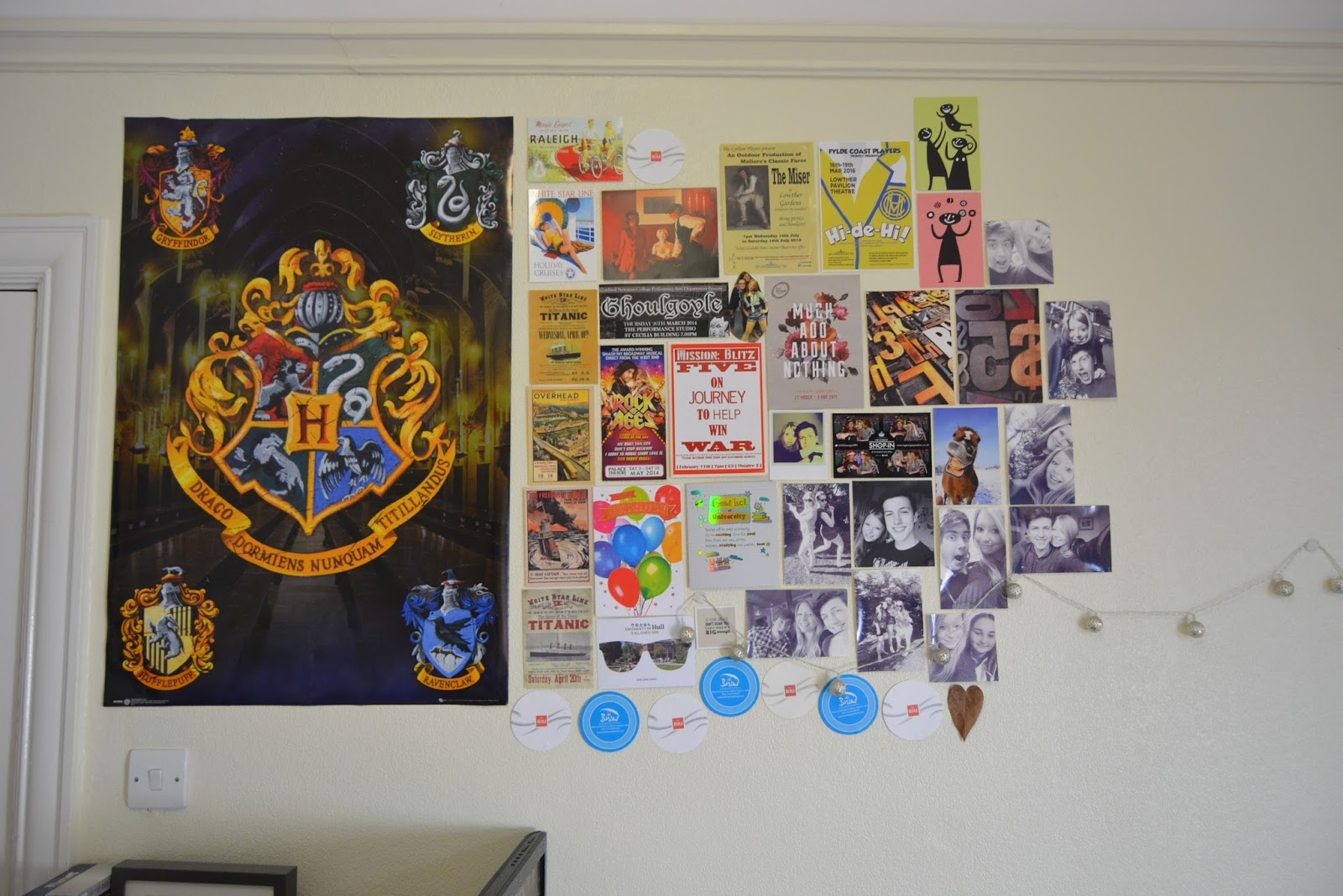 uni room, university, walls, decoration, home,living, harry potter