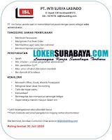 Karir Surabaya Terbaru di PT. Inti Surya Lasindo Juni 2020