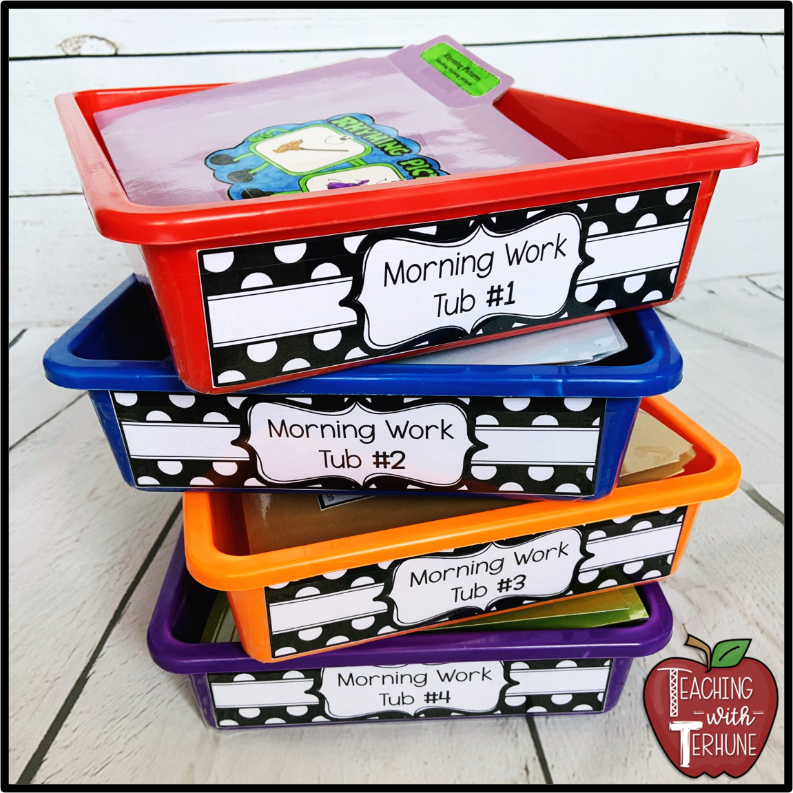 small resolution of Teaching With Terhune: Morning Work Tub System (Morning Work Drawers)