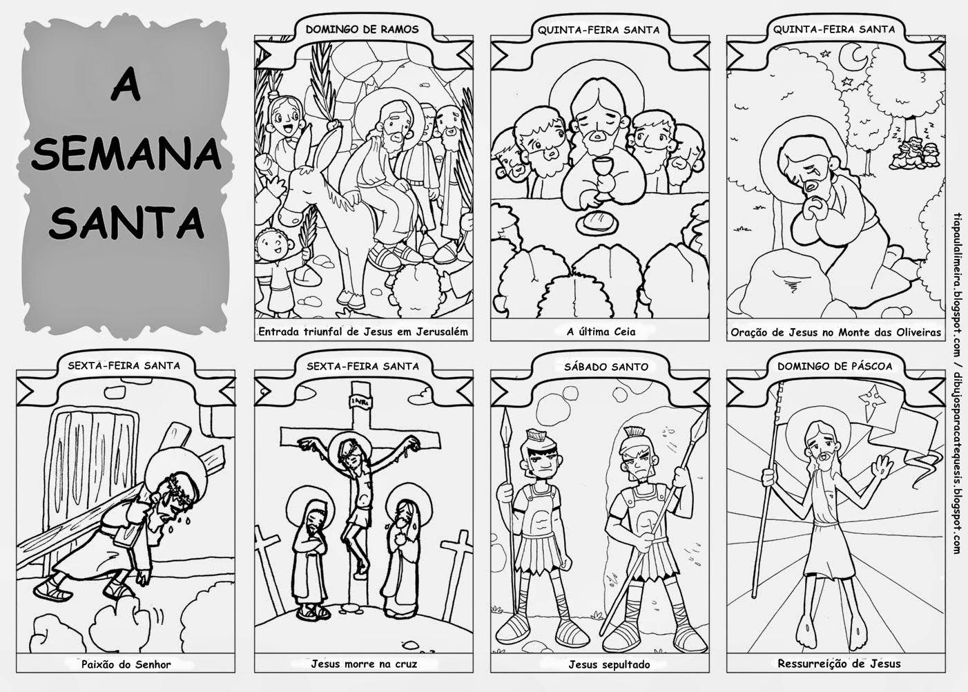 Dibujos Para Colorear Para Ninos De Semana Santa: Encontros De Catequese: VIA -SACRA
