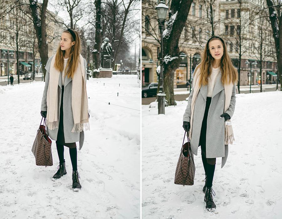 Naisellinen ja klassinen pukeutuminen talvella // Classy and feminine winter outfit