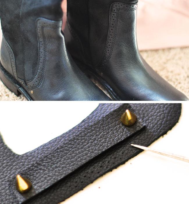 DIY Wide Leather Belt