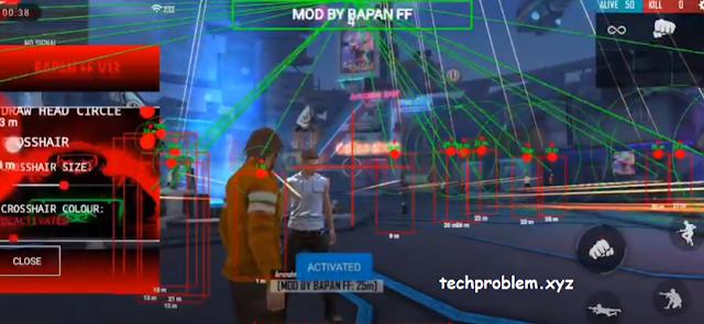 APK MOD Menu Rapan FF v13 Auto Headshot Free Fire 1.57