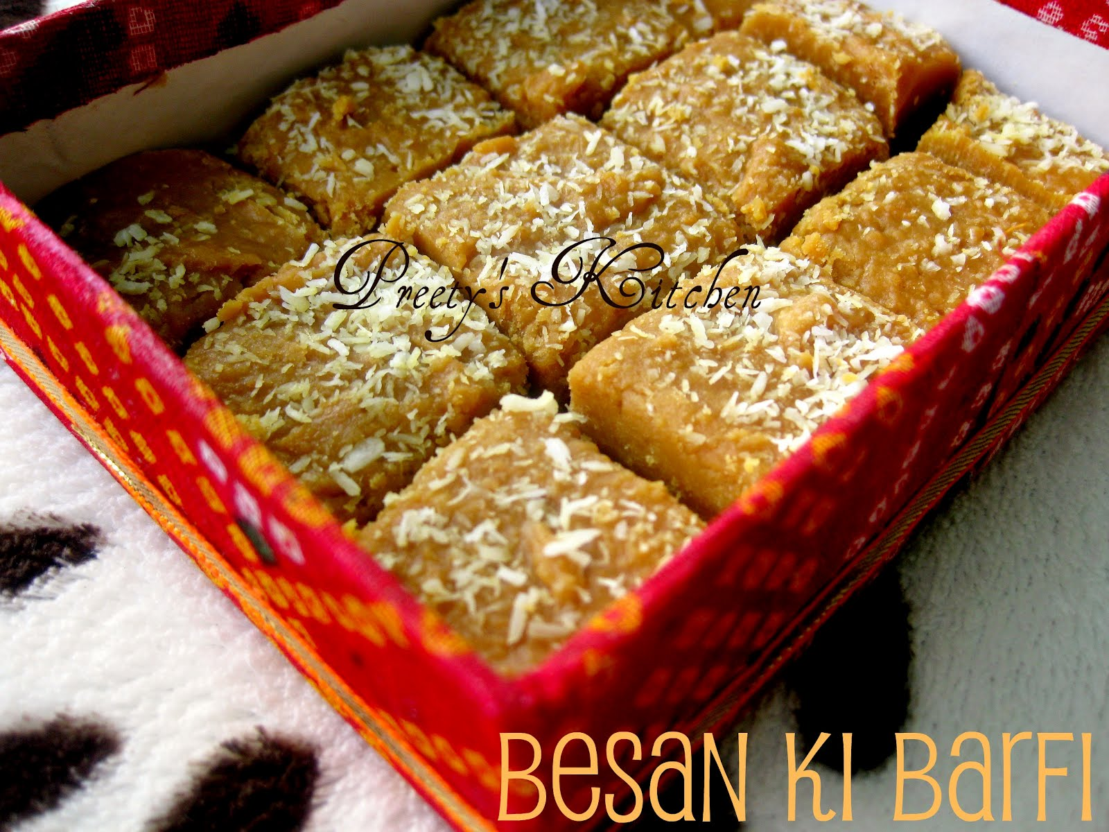 Cake Ki Recipe Kadai Mein: Preety's Kitchen: Besan Ki Barfi (Indian Sweet Made With