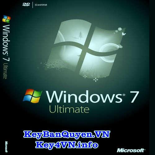 Mua bán key bản quyền Windows 7 Ultimate Full 32 và 64 Bit