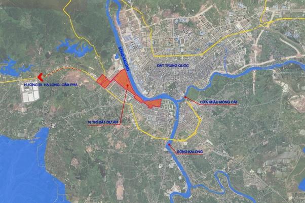 Vị trí đắc địa dự án Royal Riverside City Móng Cái