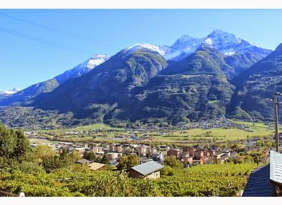 Alps and mountains of Italy in Valle d'Aosta