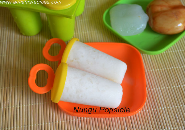 Ice Apple Popsicle / Nungu Popsicle