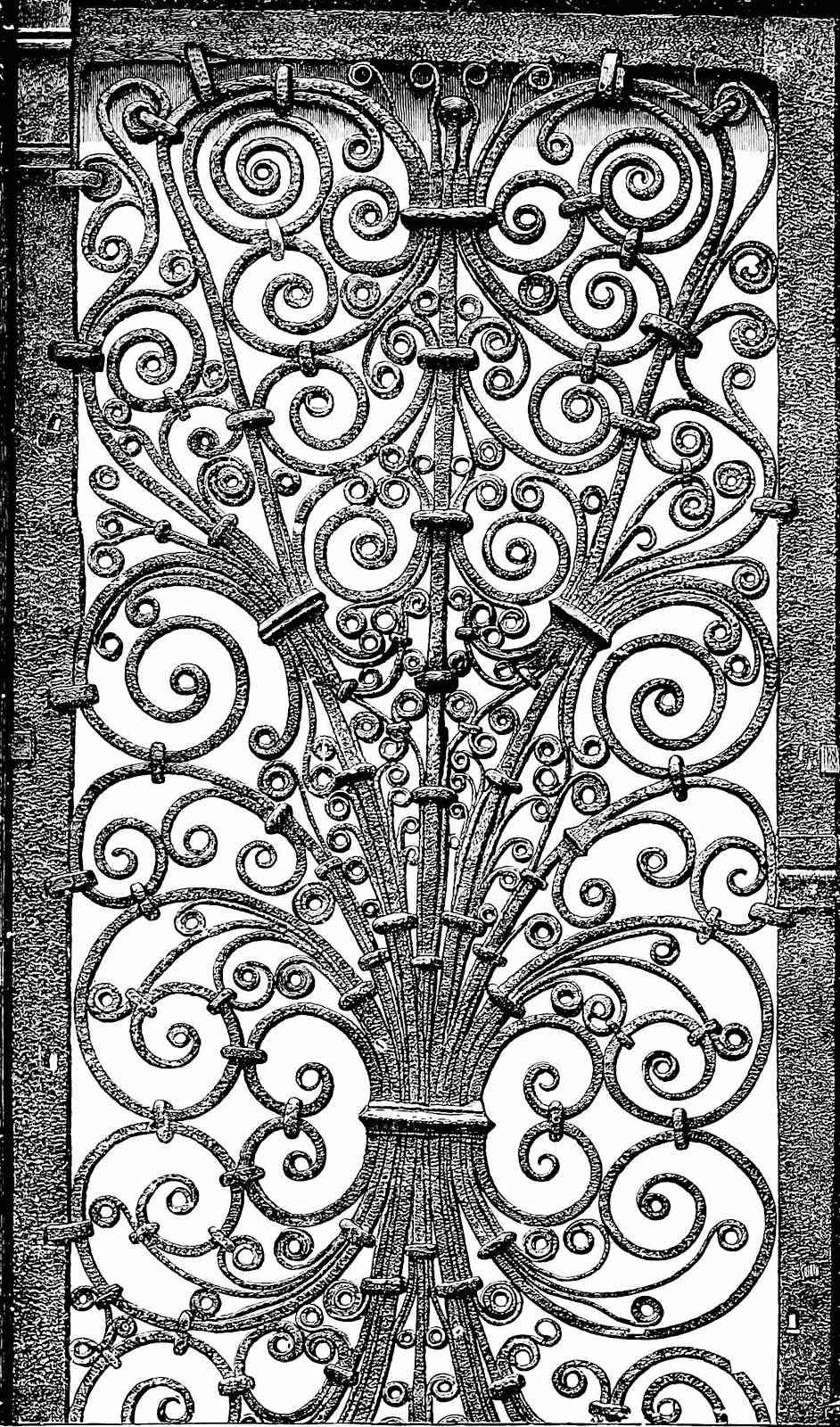 a year 1201 metal gate illustration