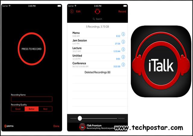 App iTalk Recorder