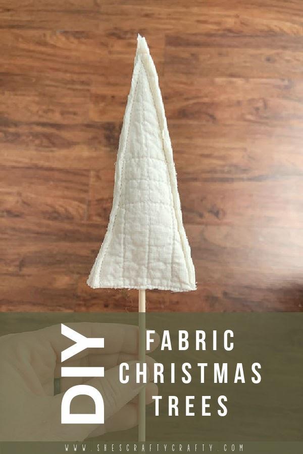 DIY fabric Christmas Trees