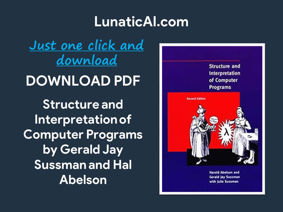 structure and interpretation of computer programs pdf download