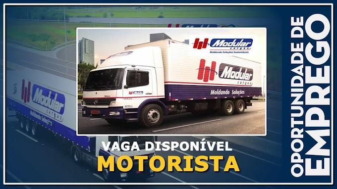Modular cargas abre vagas para Motorista Categoria C ou D