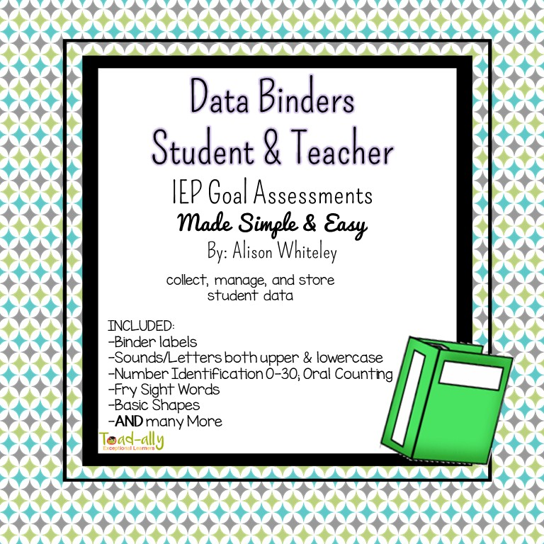 Toad-ally Exceptional Learners: How to Tame your IEP Data Mess!
