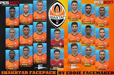 PES 2017 Facepack Shaktar Donestk by Eddie