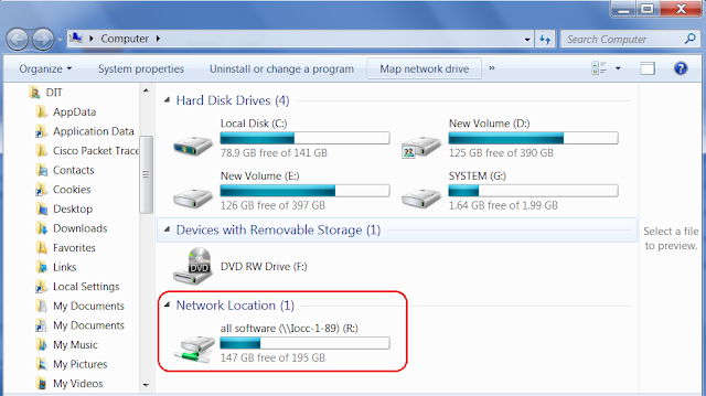 Create Network Drive in Windows 7
