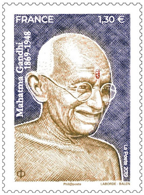 Postage stamp launched on Mahatma Gandhi's 150th Birth Anniversary