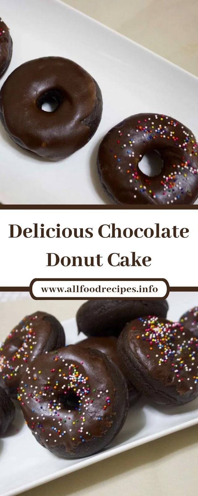Delicious Chocolate Donut Cake