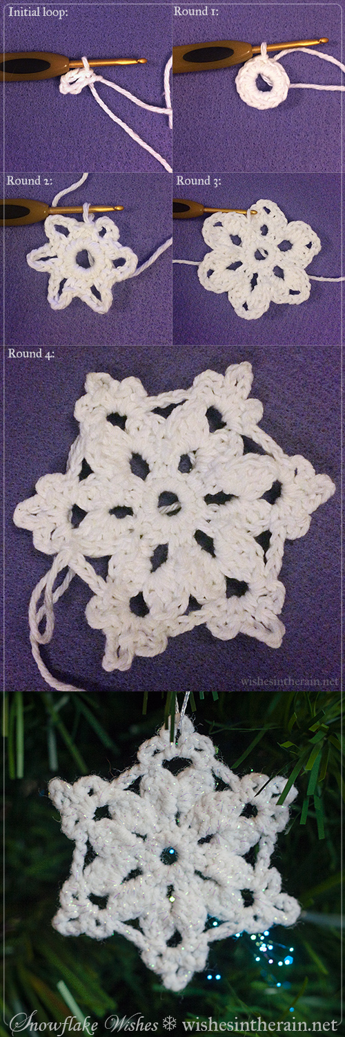 crochet snowflake photo tutorial - www.wishesintherain.net