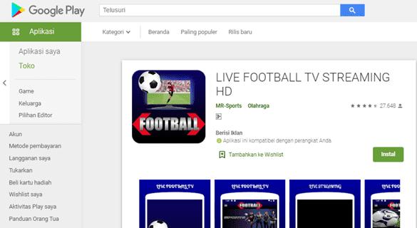 aplikasi nonton bola gratis terbaik untuk android