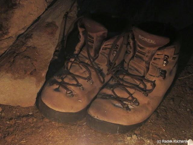 73fdb833f3dc0 Moje znoszone (a tu też nieco zamarznięte) buty trekkingowe Boreal'a