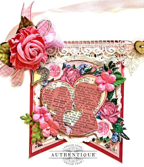 Valentine's Day Banner with Authentique Adore by Kathy Clement  Photo 01