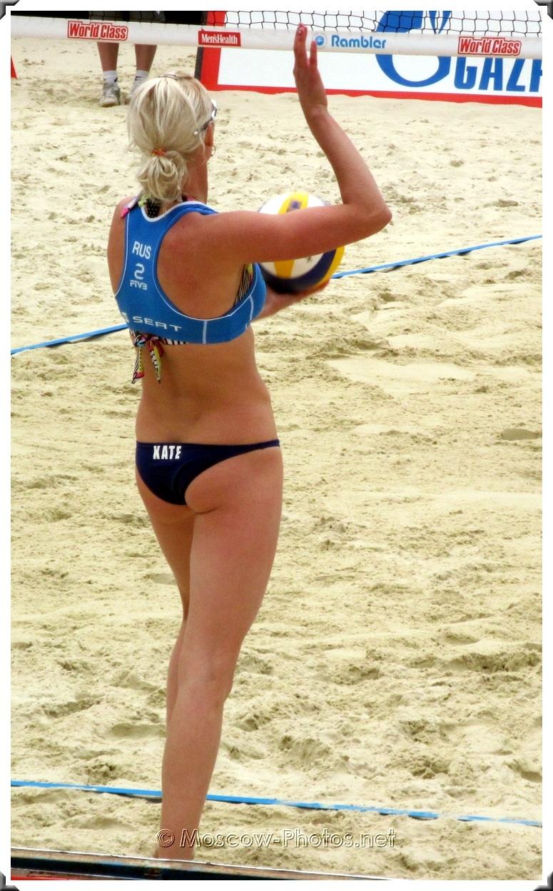 Russian Beach Volleyball Player Ekaterina Khomyakova