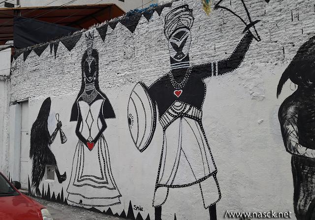 Grafites em frente à escola de Samba Vai-Vai em São Paulo!