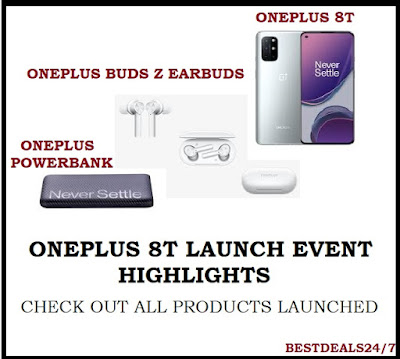 OnePlus 8T, OnePlus TWS Earbuds and OnePlus Powerbank Launched