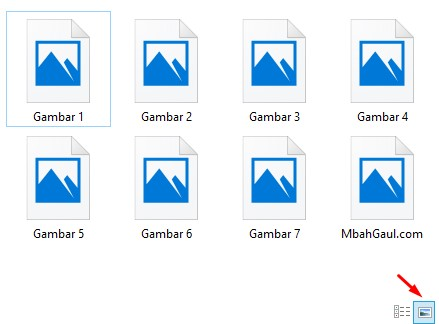 mengaktifkan view thumbnails file gambar di windows 10