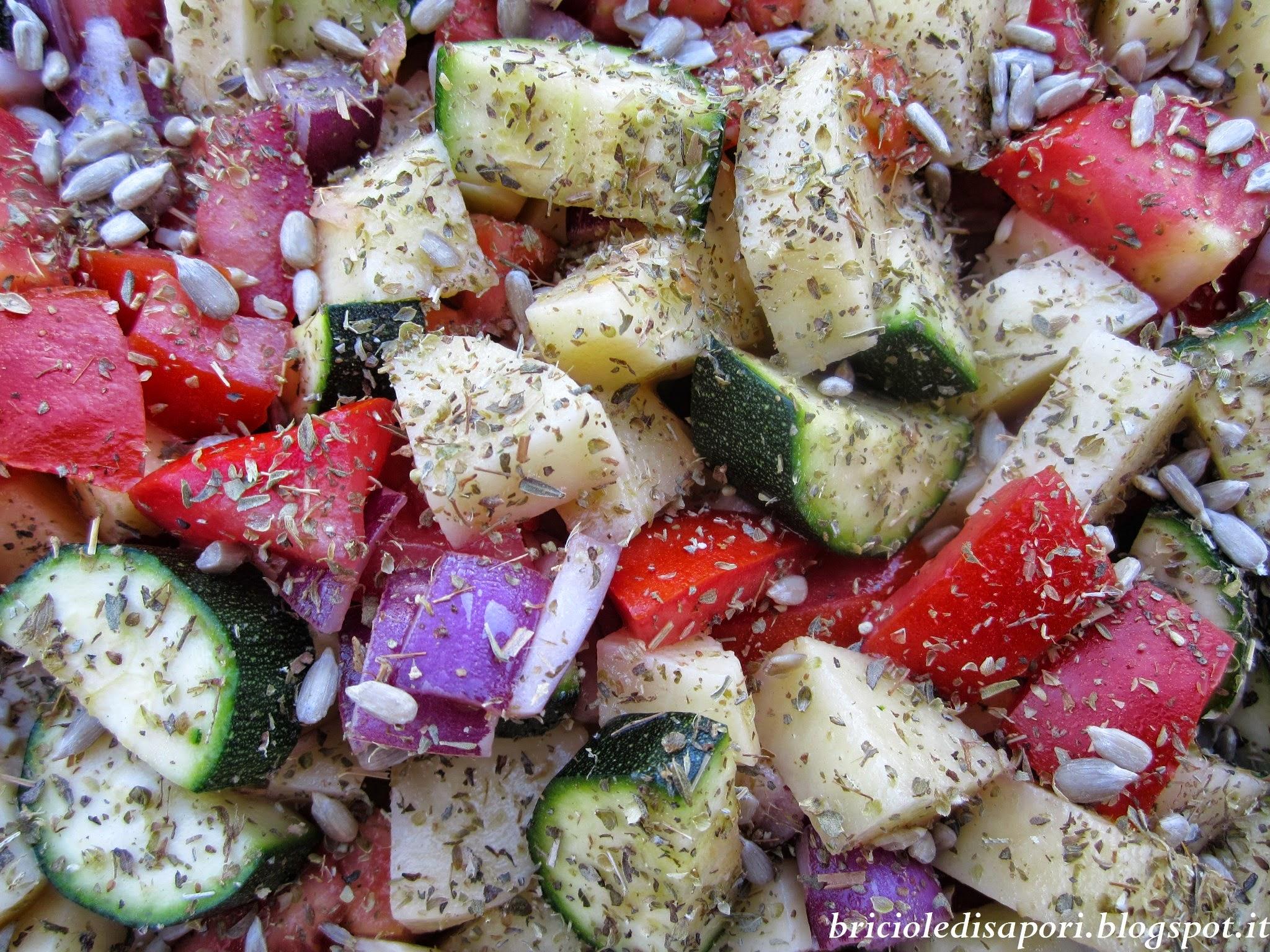 padellata di verdure dell'orto al forno