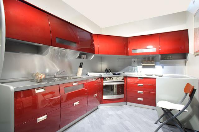 Угловые кухни акрил