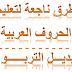 منهجية في تدريس الحروف العربية للمتعلمين