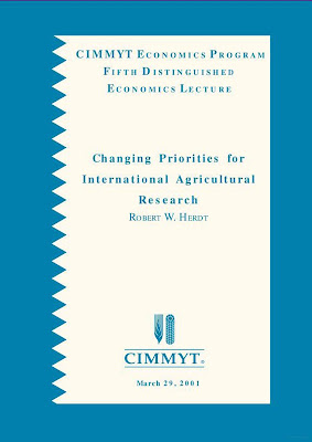 [EBOOK] Changing Priorities for International Agricultural Research, Robert w. Herdt, Published by CIMMYT