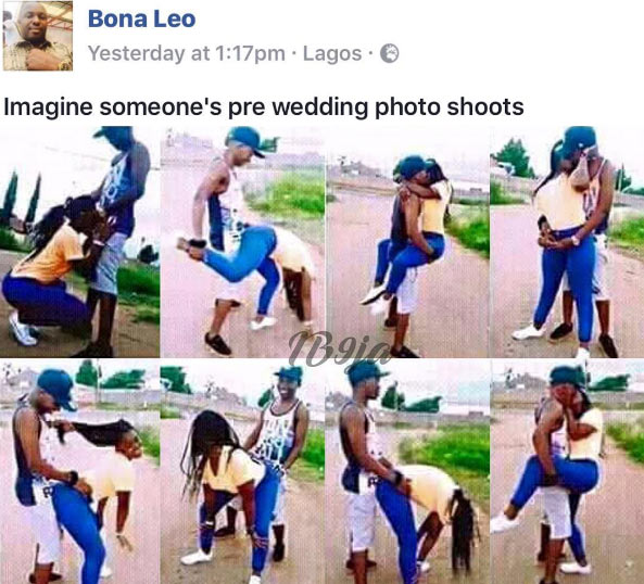 Just negodu what this Nigerian couple called pre-wedding photos