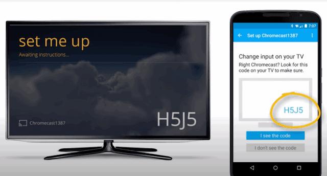 How to setup Chromecast using my mobile phone
