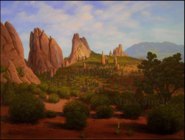 Garden of the Gods,Park,Colorado,Colorado Springs,red rock,sandstone,fins,spires,shrubs,Cheyenne Mountain