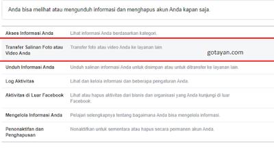 Cara Transfer Foto Facebook ke Google Foto