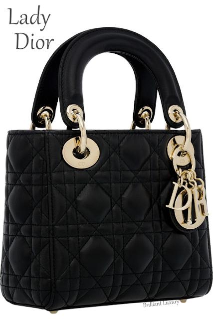 Black mini Lady Dior lambskin bag #brilliantluxury