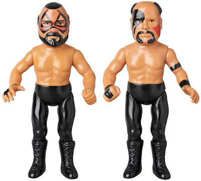 WWE The Road Warriors Bullmark Vinyl Figures by Medicom - Hawk & Animal