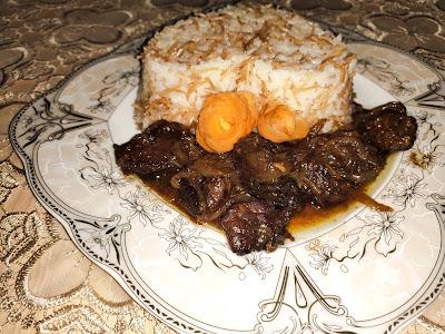 لحم بدبس الرمان