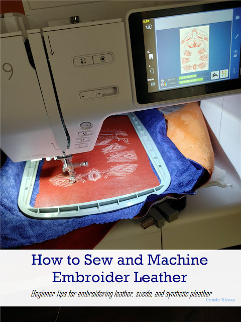 How to machine embroider leather for beginners